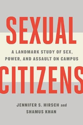Grey and cream striped book cover with Sexual Citizens in bold, red font